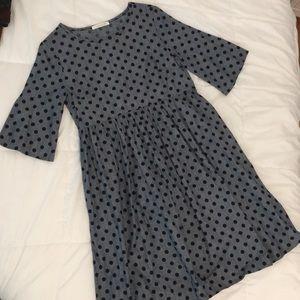 NEW Polka Dot Chambray Dress